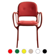 Magis Chair Milà with armrests and pillows H 84,5 cm L 55 cm