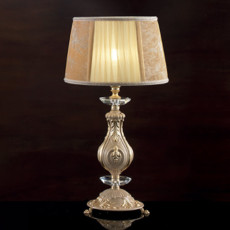 Lux Small lamp in hand-decorated brass Nadine 1 light E14 H 48 cm