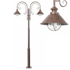 Faro Outdoor Streetlight Nautica 2 lights E27 H 225 cm Garden