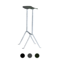 Magis Stool Officina H 75 cm Forged iron galvanized steel structure, Also for outdoor use