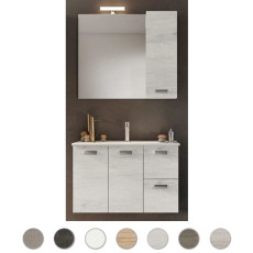 Bathroom composition Angela L 100 cm with sink on the left, mirror and lamp Savini