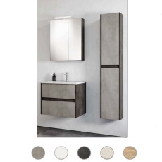 Bathroom composition Grace L 80 cm with sink, mirror and lamp Savini