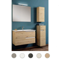 Bathroom composition Grace L 100 cm with sink, mirror and lamp Savini