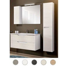 Bathroom composition Grace L 60 cm with sink, mirror and lamp Savini