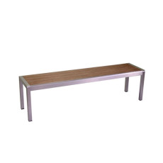Vacchetti Polywood Aluminum Brown Bench Seattle L 165cm