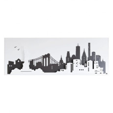 "Arti e Mestieri ""New York"" Panel Wall Clock"