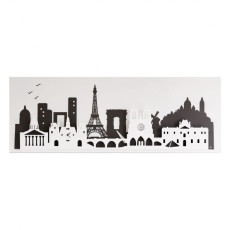 "Arti e Mestieri ""Paris"" Panel Wall Clock"