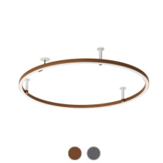 Axo Light Ceiling / Wall lamp PL UL 1 120 H10 LED 74W Ø 120 cm H 10 cm - With recessed canopy - Dimmer