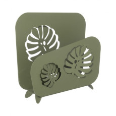 Arti e Mestieri Tall tropical napkin holder Monstera