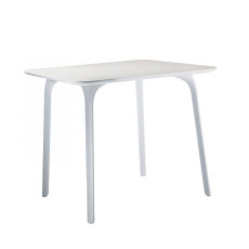 Magis square table First L 79,2 cm white HPL plan, also for outdoor use