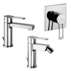 Paffoni Faucet set Ringo basin, bidet and concealed shower mixer (1 outlet)