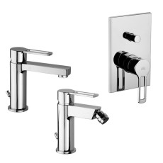 Paffoni Faucet set Ringo basin, bidet and concealed shower mixer (2 outlets)