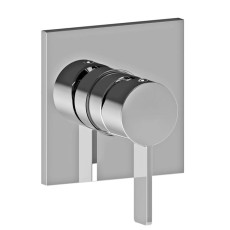 Paffoni Built-in shower mixer 1 outlet without diverter Rock L 11x11 cm