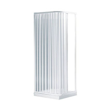 Negrari Extensible and collapsible folding shower enclosure Etech Professional two sides L 80/92 cm