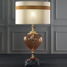 Lux Large lamp in blown glass Satin 1 light E27 H 72 cm