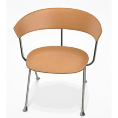 Magis Low Chair Officina L 76cm Structure in Galvanized Leather