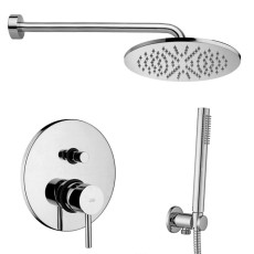 Paffoni Faucet set Stick built-in shower mixer, 40 cm LUXURY shower arm, MASTER shower head and ROUND hand shower