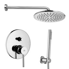 Paffoni Faucet set Stick built-in shower mixer, LUXURY shower arm, MASTER shower head and ROUND hand shower