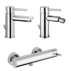 Paffoni Faucet set Wash basin, bidet and shower mixer without Stick hand shower