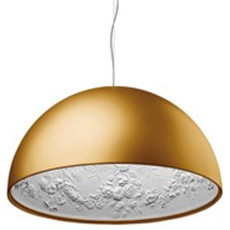 Flos Suspension lamp Skygarden 2 Ø 90 cm 1 light E27 Gold