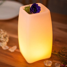 Lamp with rechargeable battery float Smart & Green Stele LED RGB + WHITE H 23 cm