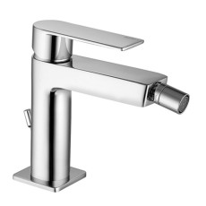 Paffoni Bidet mixer with automatic pop-up waste Tango H 14.1 cm