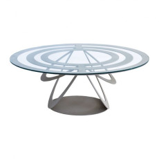 "Arti e Mestieri Oval ""Optical"" table"