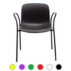 Magis Chair Troy Polypropylene stackable with armrests H 80 cm L 61 cm, also for outdoor use