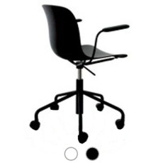 Magis Chair Troy Polypropylene swivel with 5-wheel armrests H 77,5/85,5 cm L 63 cm
