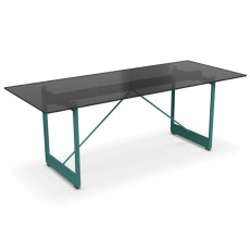 Magis Table Brut L 205cm Smoked Glass