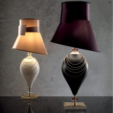 Lux Large lamp in blown glass Vichy 1 light E27 H 86 cm