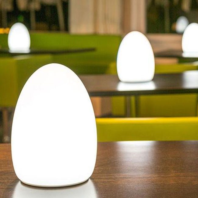 Rechargeable Battery Lamp Table Lamp Smart Green Egg Led Rgb White Www Smart Issima Com